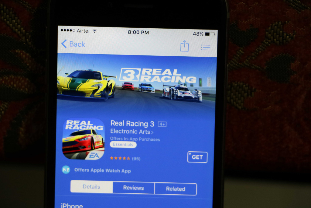 Real Racing Game 3 in Iphone - Best iOS Racing Games