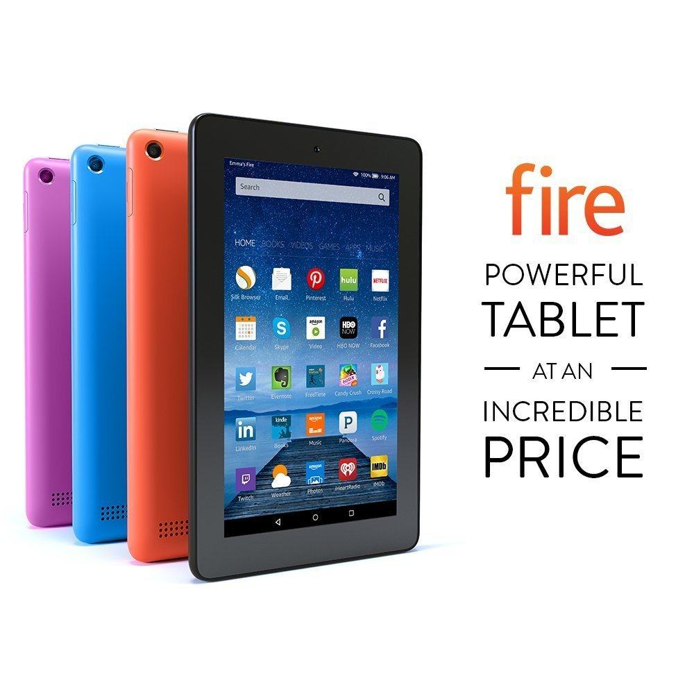 Fire Tablet Wi-Fi 8 GB (Newest -Best Tablets Under 100