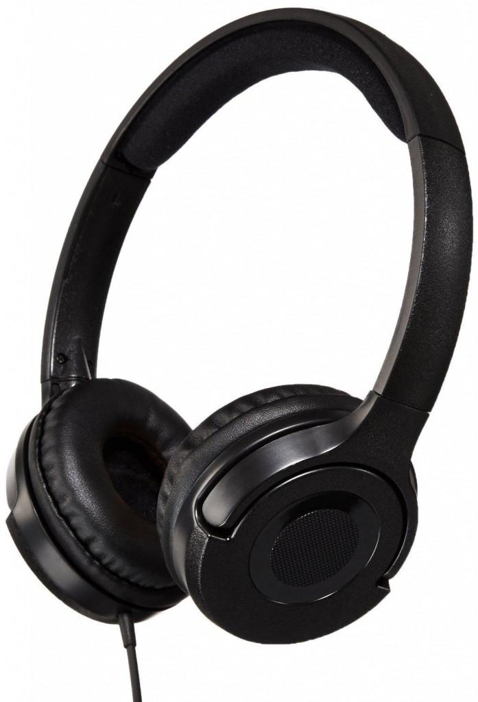 Amazon Basics Lightweight On-Ear Headphones – Black