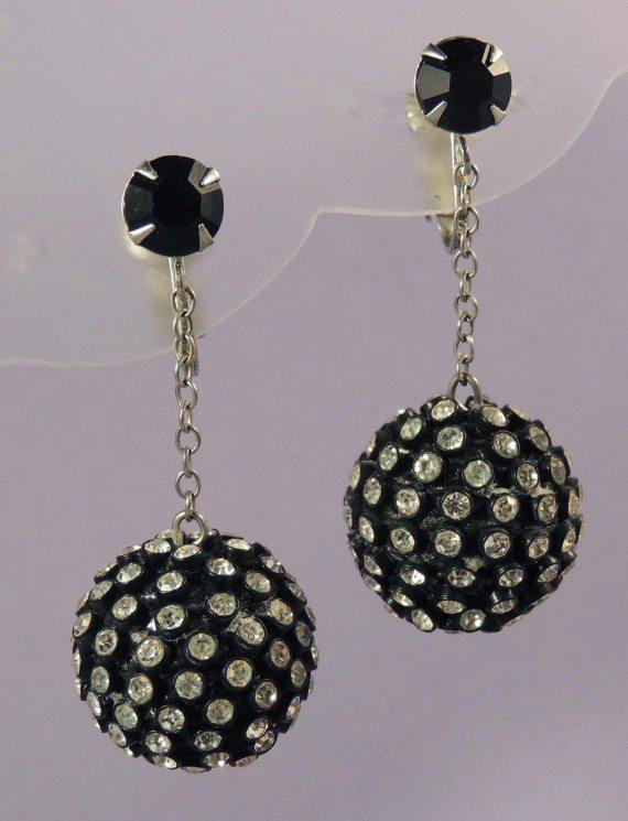 Black Ball Earrings