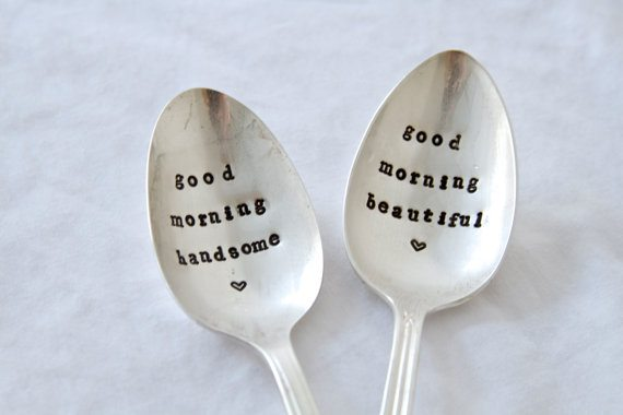 Good Morning Handsome - Stamped Spoon
