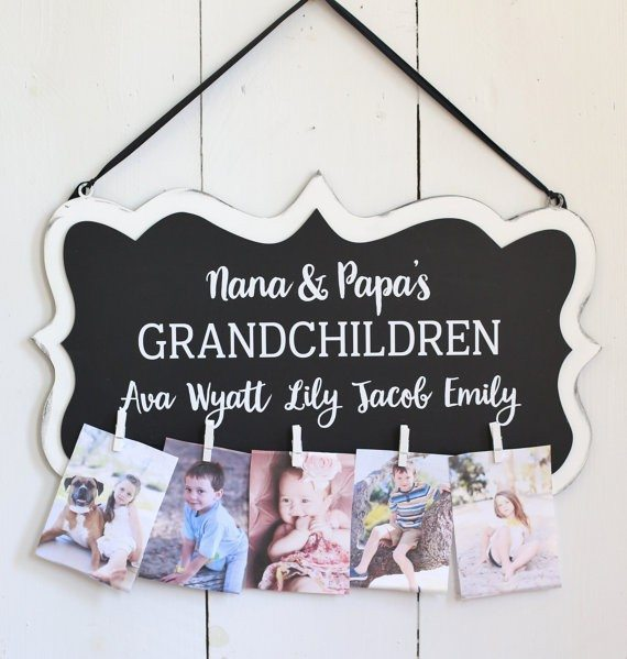 Grandma & Grandpa Photo Clip
