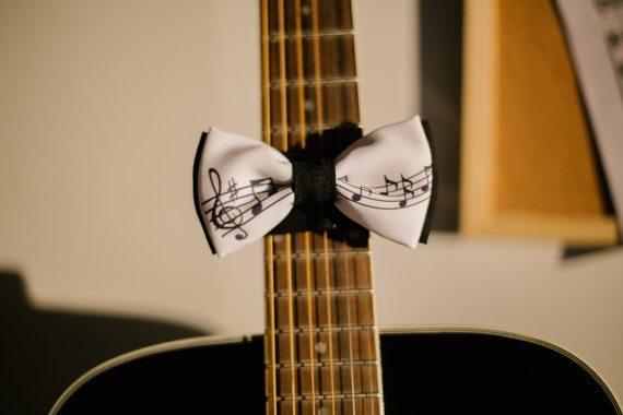 Music Print Bow Tie