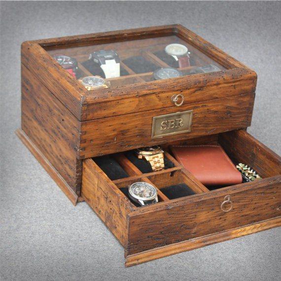 Personalised Rustic Watch Box