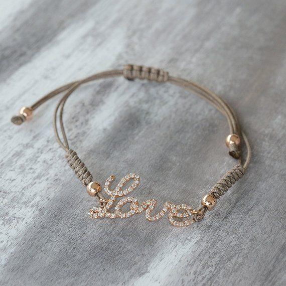 Rope Diamond Bracelet with Custom Name