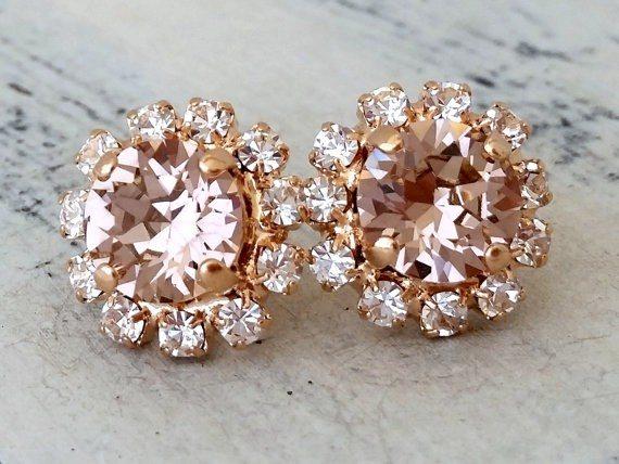 Rose Gold Blush Earrings