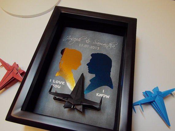 Unique Star Wars Origami Gift