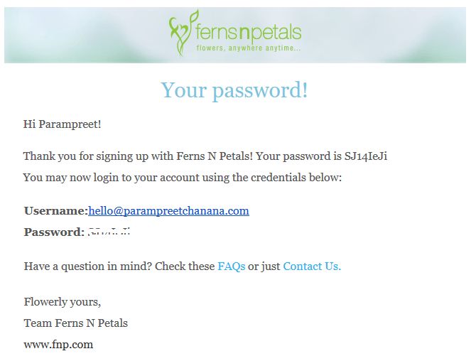 Password from FNP
