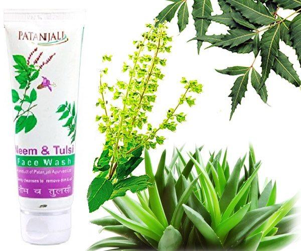patanjali neem & tulsi face wash