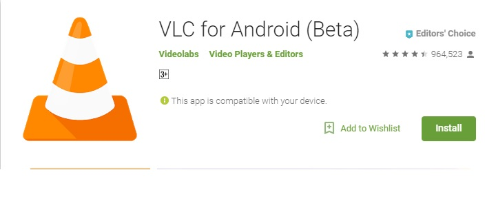 vlc player - Best Android Video Players 2017